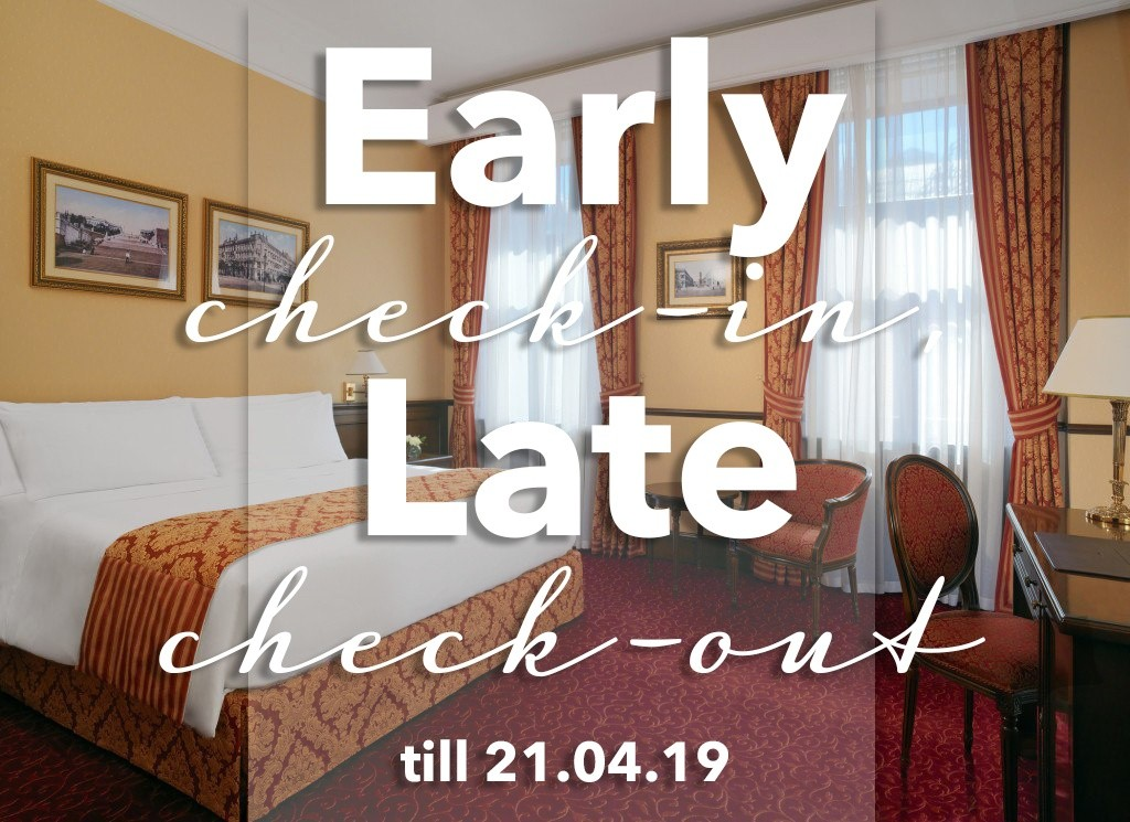 Complimentary check-in and check-out!
